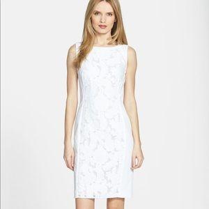 Hugo Boss | White Lace Front Sheath Dress